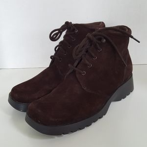 Bass Brown Leather Suede Lace Up Chukka Boots 8M
